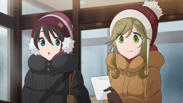 Yuru Camp Season 2 - Ep. 5 - Caribou-kun and Lake Yamanaka