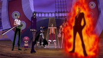One Piece - Episode 355 - Food, Nami, and Shadows!! Luffy's Enraged Counterattack!