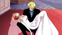 One Piece - Episode 358 - Blazing Knight Sanji!! Kick Down the Fake Wedding!
