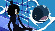 One Piece - Episode 379 - Brook's Past! A Sad Farewell with His Cheerful Comrade!