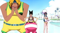 One Piece - Episode 382 - The Slow-Slow Menace! 'Silver Fox' Foxy Returns!