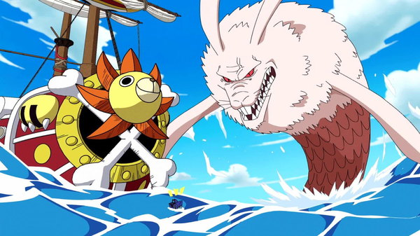 One Piece - Ep. 385 - Halfway Across the Grand Line! Arrival at the Red Line!