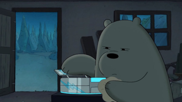 Image result for we bare bears icy nights