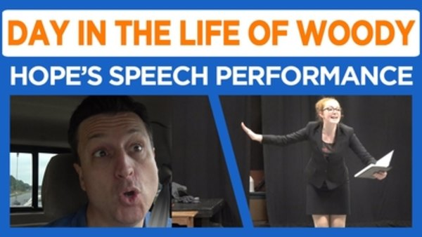 Day in the Life of Woody - S2016E32 - Hope's Speech Performance