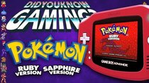 Did You Know Gaming? - Episode 270 - Pokemon Ruby & Sapphire