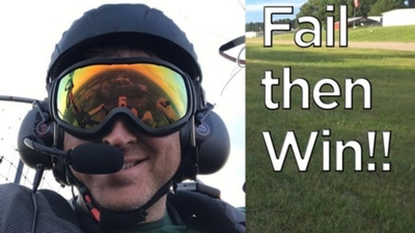 Day in the Life of Woody - S2018E19 - XC Paramotor Crash - Fail and Win