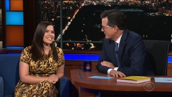 The Late Show with Stephen Colbert - S04E15 - America Ferrera, Nas