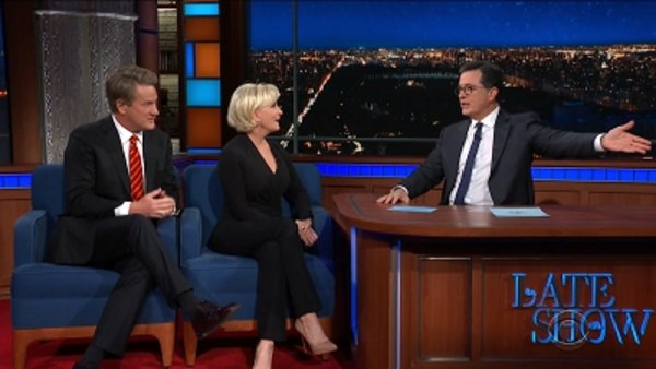 The Late Show with Stephen Colbert - S04E27 - Joe Scarborough, Mika Brzezinski, Laura Benanti, The Revivalists