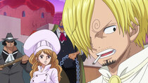 One Piece - Episode 861 - The Cake Sank?! Sanji and Bege's Getaway Battle!