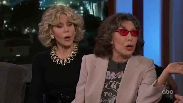 Jimmy Kimmel Live - S17E07 - Jane Fonda, Lily Tomlin, Stephan James, Sharon Van Etten