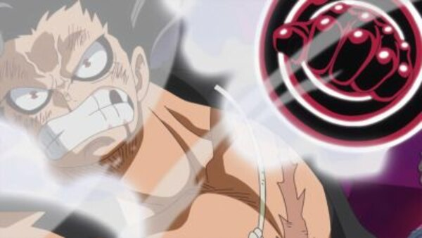 One Piece - Ep. 870 - A Fist of Divine Speed! Another Gear Four Application Activated!