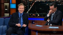 The Late Show with Stephen Colbert - Episode 91 - Super Bowl Edition, with Conan O'Brien, James Taylor