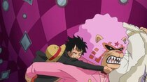 One Piece - Episode 872 - A Desperate Situation! The Iron-tight Entrapment of Luffy!