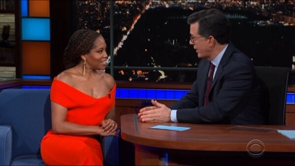 The Late Show with Stephen Colbert - S04E98 - Regina King, Bill Gates, Melinda Gates, Jena Friedman