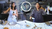 Back to Back Chef - Episode 12 - Padma Lakshmi Tries to Keep Up with a Professional Chef