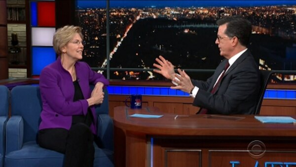 The Late Show with Stephen Colbert - S04E120 - Elizabeth Warren, Tony Hale
