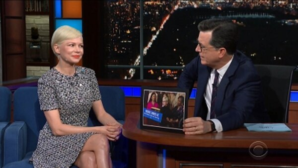 The Late Show with Stephen Colbert - S04E129 - Michelle Williams, Emily Bazelon, Oscar the Grouch