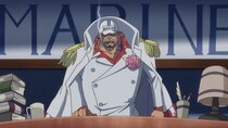 One Piece - Episode 881 - Going into Action! The Implacable New Admiral of the Fleet -...
