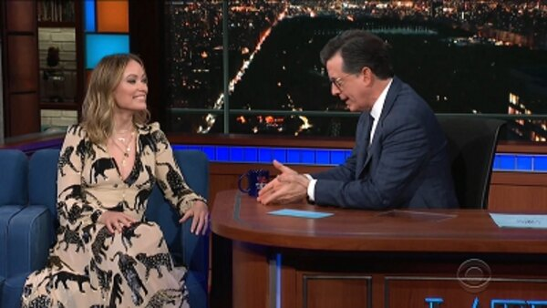 The Late Show with Stephen Colbert - S04E150 - Olivia Wilde, Scott Pelley, BTS