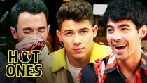 Hot Ones - Episode 1 - The Jonas Brothers Burn Up While Eating Spicy Wings