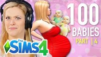 The 100 Baby Challenge - Episode 4 - Single Girl Has Twins In The Sims 4 | Part 4