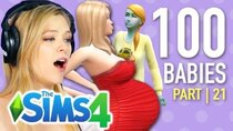 The 100 Baby Challenge - Episode 21 - Single Girl Nearly Freezes Daughter To Death In The Sims 4 |...
