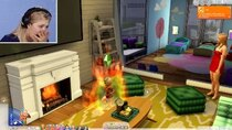 The 100 Baby Challenge - Episode 22 - Single Girl Burns Down Her Home In The Sims 4 | Part 22