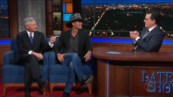 The Late Show with Stephen Colbert - S04E161 - Tim McGraw, Jon Meacham, Tessa Thompson, Jessie Reyez ft. 6lack