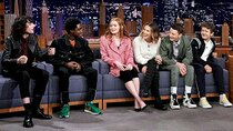 The Tonight Show Starring Jimmy Fallon - Episode 153 - Millie Bobby Brown, Finn Wolfhard, Gaten Matarazzo, Caleb McLaughlin,...
