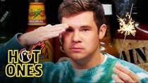 Hot Ones - Episode 6 - Adam Devine Gets Patriotic While Eating Spicy Wings