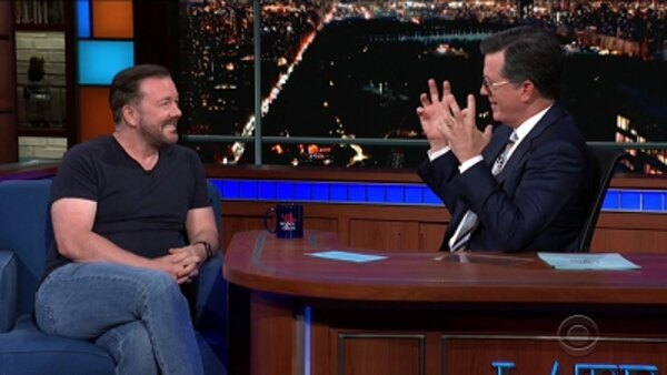 The Late Show with Stephen Colbert - S04E174 - Ricky Gervais, X Ambassadors