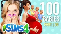 The 100 Baby Challenge - Episode 30 - Single Girl Has Triplets In The Sims 4 | Part 30
