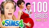 The 100 Baby Challenge - Episode 31 - Single Girl Starves Her Children In The Sims 4 | Part 31