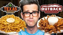 Good Mythical Morning - Episode 99 - Texas Roadhouse vs. Outback Steakhouse Taste Test | FOOD FEUDS