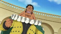 One Piece - Episode 886 - The Holyland in Tumult! The Targeted Princess Shirahoshi!