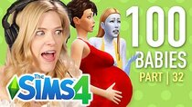 The 100 Baby Challenge - Episode 32 - Single Girl Freezes To Death In The Sims 4 | Part 32