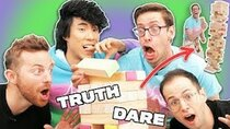 The Try Guys - Episode 68 - The Try Guys Play Giant Jenga Truth Or Dare