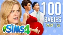 The 100 Baby Challenge - Episode 34 - Single Girl Kicks Out Her First Born In The Sims 4 | Part 34