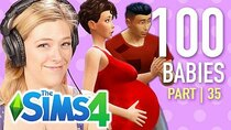 The 100 Baby Challenge - Episode 35 - Single Girl Fishes For Men In The Sims 4 | Part 35