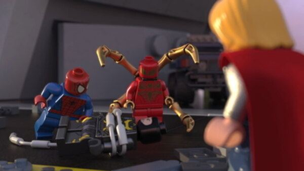 LEGO Marvel Super Heroes: Maximum Overload! - S02E04 - Avengers Reassembled: Iron Man Meets Iron Spider!