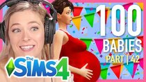 The 100 Baby Challenge - Episode 42 - Single Girl Has 50 Babies In The Sims 4 | Part 42