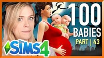 The 100 Baby Challenge - Episode 43 - Single Girl Births A Two Headed Baby In The Sims 4 | Part 43