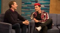 Comedy Bang! Bang! - Episode 7 - Joe Jonas Wears a Maroon and Gold Letterman Jacket With White...