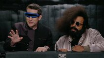 Comedy Bang! Bang! - Episode 19 - Reggie Watts Wears a Purple and Yellow Quilted Sweatshirt