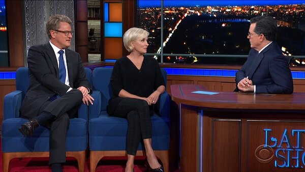 The Late Show with Stephen Colbert - S05E70 - Joe Scarborough & Mika Brzezinski, Cast of TINA: The Tina Turner Musical