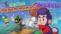AntDude - Episode 17 - Is Super Paper Mario Actually Good? | A Paper Paradigm Shift