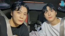 ASTRO vLive show - Episode 57 - San-Ha and Moon Bin on their way home