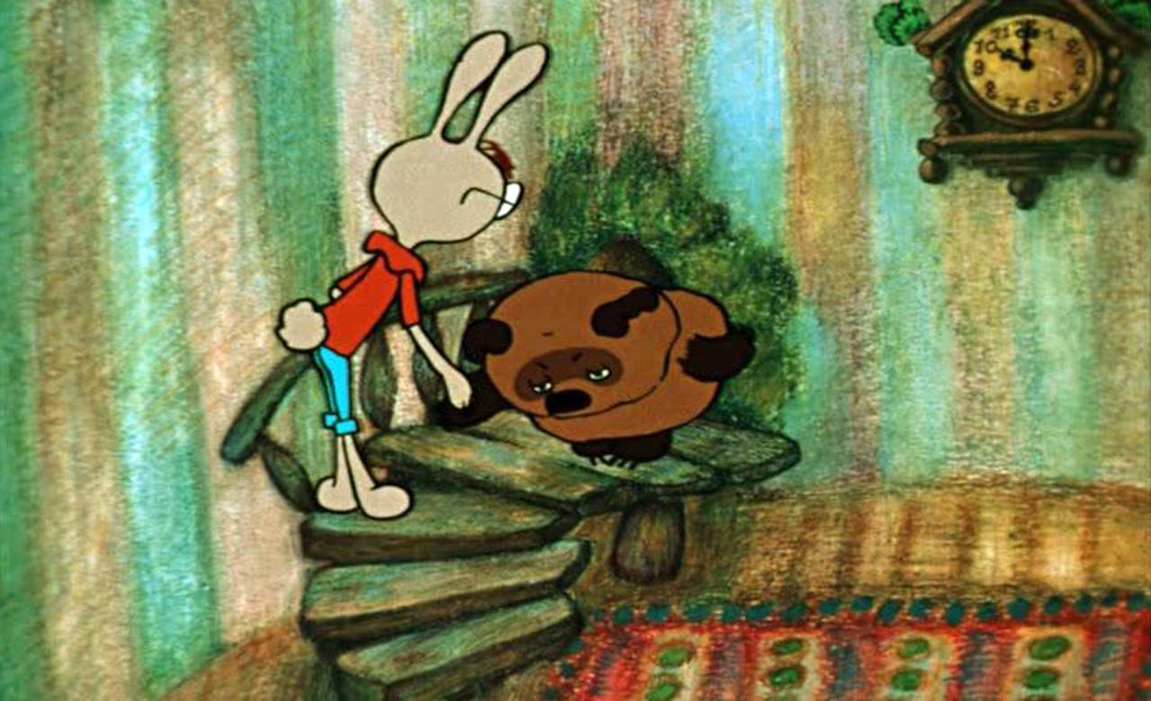 познакомиться винни пух и пятачок у кролика картинка молодые