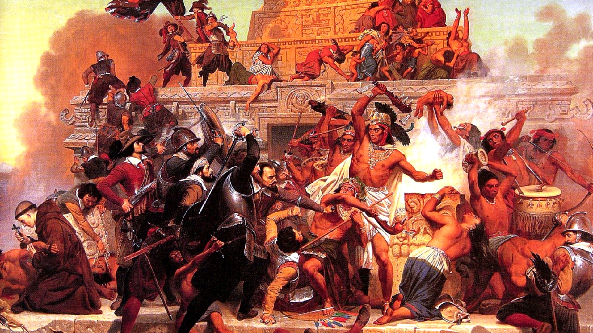 the destruction of the aztec empire through greed King montezuma, and the last stand of powered by a greed that but at the cost of an estimated 200,000 aztec dead the battle for the aztec empire.