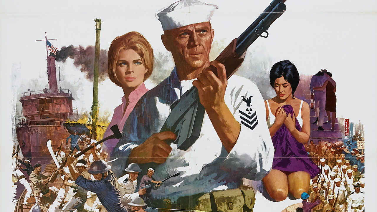 the focus of the flag in the movie sand pebbles